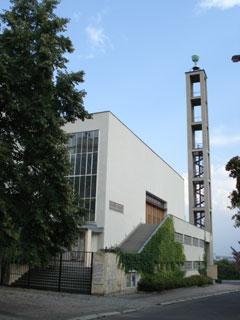 Die Prager Hussitenkirche, von Norden gesehen